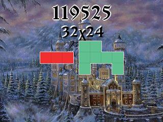 O quebra-cabeça полимино №119525