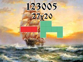 O quebra-cabeça полимино №123005