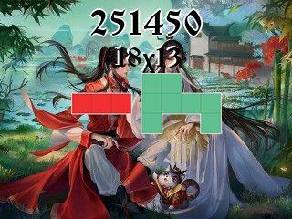 O quebra-cabeça полимино №251450