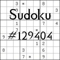 Sudoku №129404