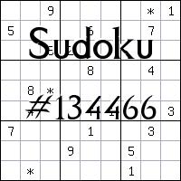 Sudoku №134466