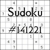 Sudoku №141221