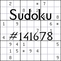 Sudoku №141678