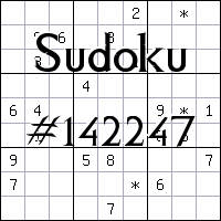 Sudoku №142247