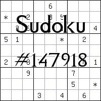 Sudoku №147918