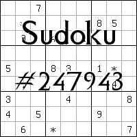 Sudoku №247943