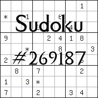 Sudoku №269187