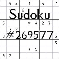 Sudoku №269577