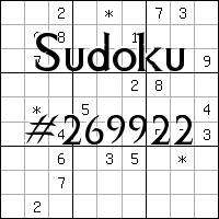 Sudoku №269922