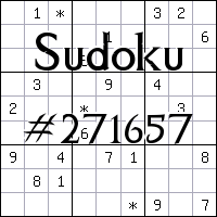 Sudoku №271657