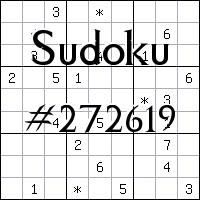 Sudoku №272619