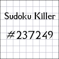 Sudoku assassino №237249