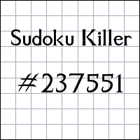 Sudoku assassino №237551