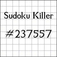 Sudoku assassino №237557