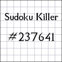 Sudoku assassino №237641