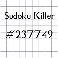 Sudoku assassino №237749