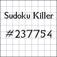 Sudoku assassino №237754