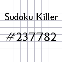 Sudoku assassino №237782