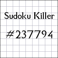 Sudoku assassino №237794