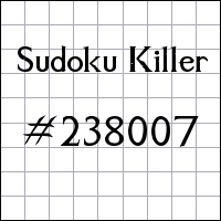 Sudoku assassino №238007
