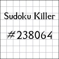 Sudoku assassino №238064
