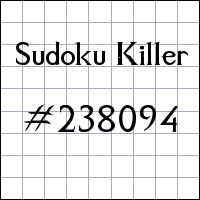 Sudoku assassino №238094