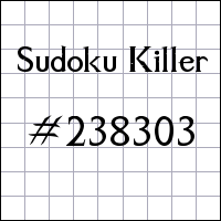 Sudoku assassino №238303