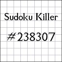 Sudoku assassino №238307