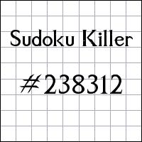 Sudoku assassino №238312
