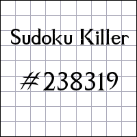 Sudoku assassino №238319
