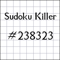 Sudoku assassino №238323