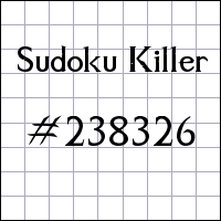 Sudoku assassino №238326
