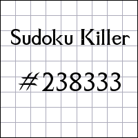 Sudoku assassino №238333