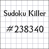 Sudoku assassino №238340