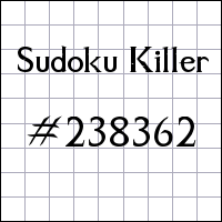 Sudoku assassino №238362