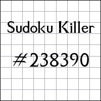 Sudoku assassino №238390