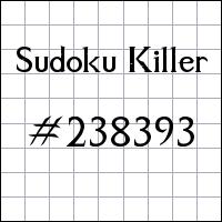 Sudoku assassino №238393