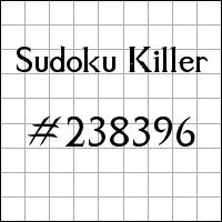 Sudoku assassino №238396