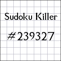 Sudoku assassino №239327