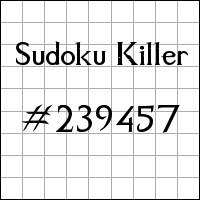 Sudoku assassino №239457