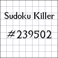 Sudoku assassino №239502