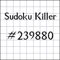 Sudoku assassino №239880