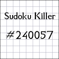 Sudoku assassino №240057