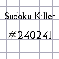 Sudoku assassino №240241