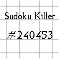 Sudoku assassino №240453