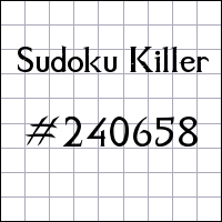 Sudoku assassino №240658