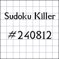 Sudoku assassino №240812