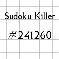 Sudoku assassino №241260