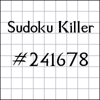 Sudoku assassino №241678