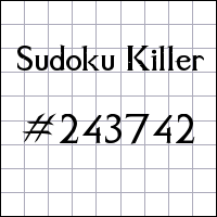 Sudoku assassino №243742